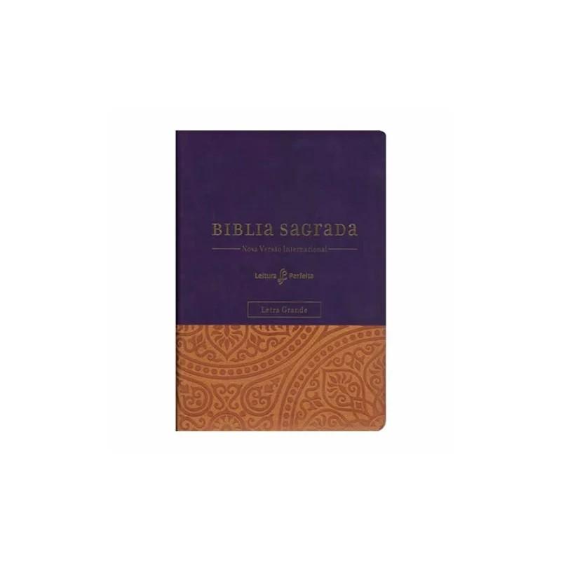 Bíblia Sagrada NVI - Leitura Perfeita   Letra Grande   c/ Espaço para Anotações   Roxa
