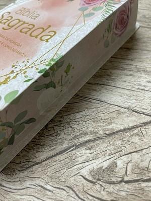 Bíblia Sagrada RC Rosas - Letra Gigante - Com Dicionário e Concordância