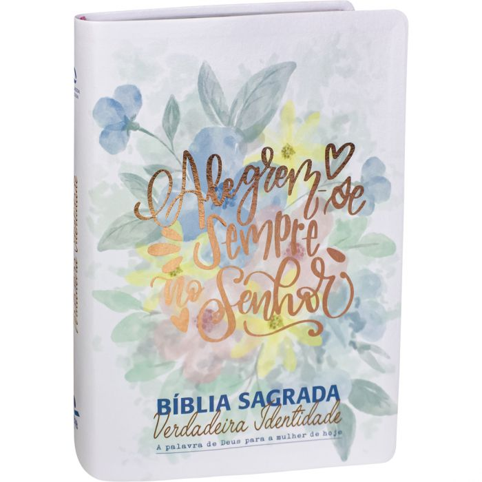 Bíblia Sagrada Verdadeira Identidade Lettering Colorida