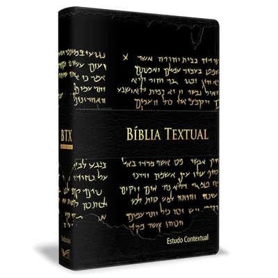 Bíblia Textual - Luxo Preta Estudo contextual