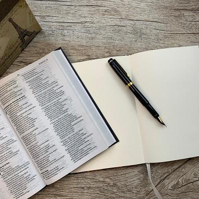 Kit Bíblia Leão Aslam NAA + Caderneta de anotações personalizada