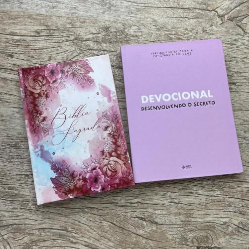 Kit Desenvolvendo o Secreto + Bíblia NAA Jardim do descanso  *envio a partir do dia 01/06*