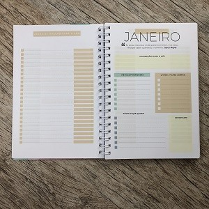 Kit Planner + Bíblia da Vida Diária Joyce Meyer / Abstrata