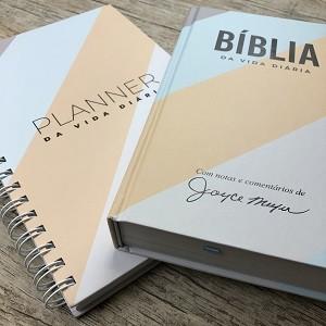 Kit Planner + Bíblia da Vida Diária Joyce Meyer / Reta