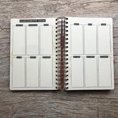 Planner Minha Jornada - Capa Abstrata