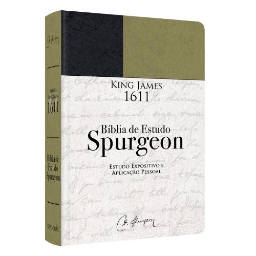 BÍBLIA DE ESTUDO SPURGEON - ESTUDO EXPOSITIVO E APLICAÇÃO PESSOAL - Verde - FRETE GRÁTIS