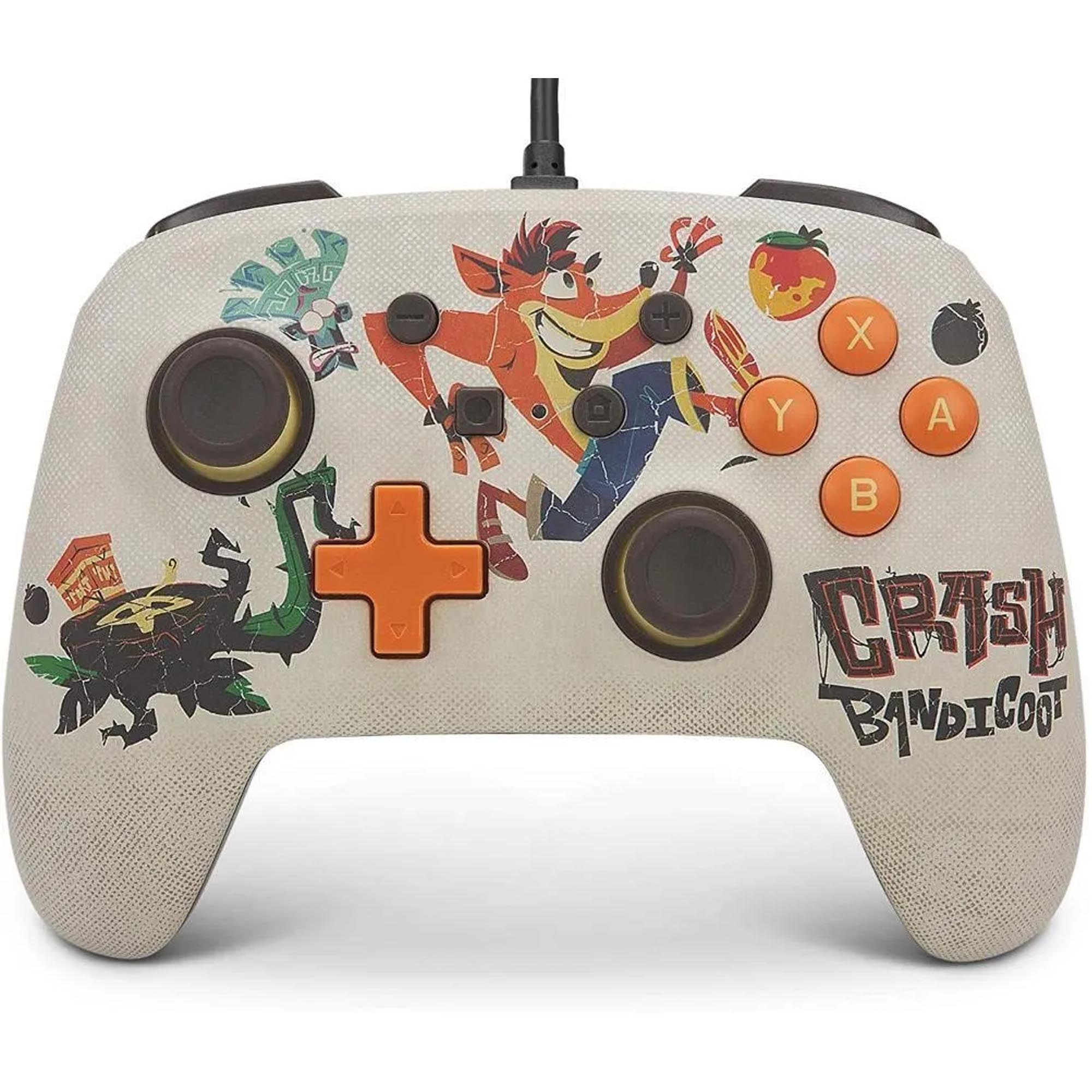 Controle PowerA Wired (com Fio) - Crash Bandicoot - Switch