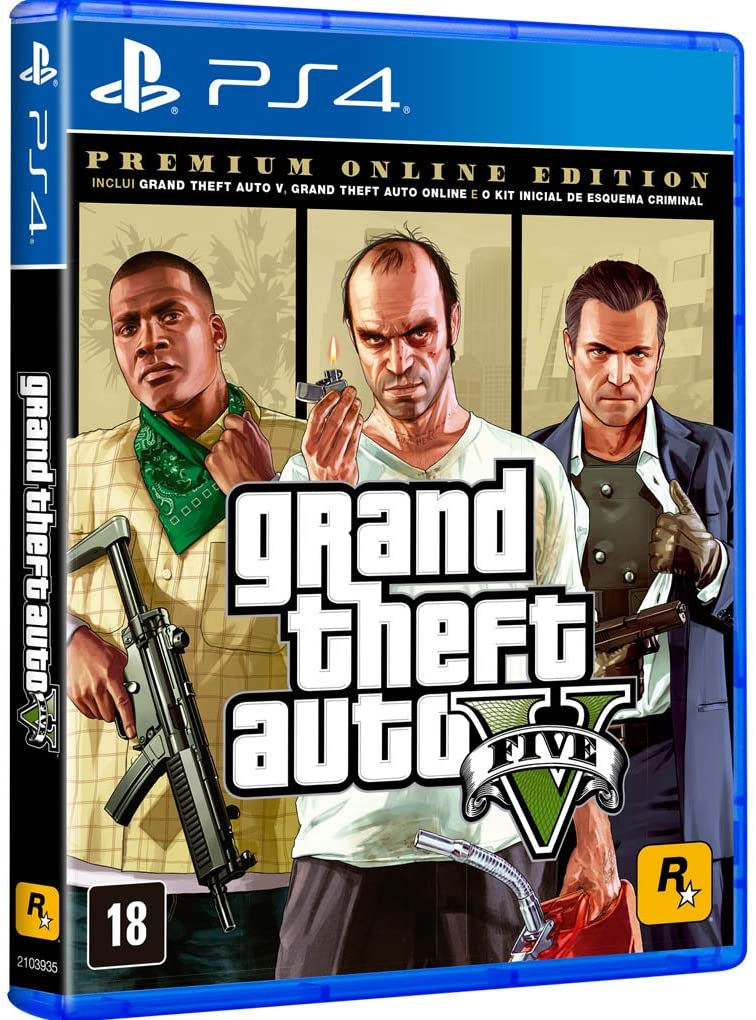 GTA 5 PREMIUM EDITION - PS4 - Mídia Física