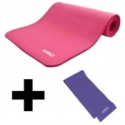 KIT COLCHONETE + FAIXA THERA BAND YOGA PILATES EXERCICIO
