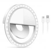 LUZ DE SELFIE FLASH PARA CELULAR BATERIA RECARREGAVEL USB LK-B36