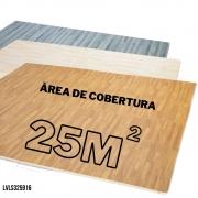 TATAME EVA EFEITO PISO MADEIRA 64 PLACAS 62X62 12MM - COBRE AREA 25M2