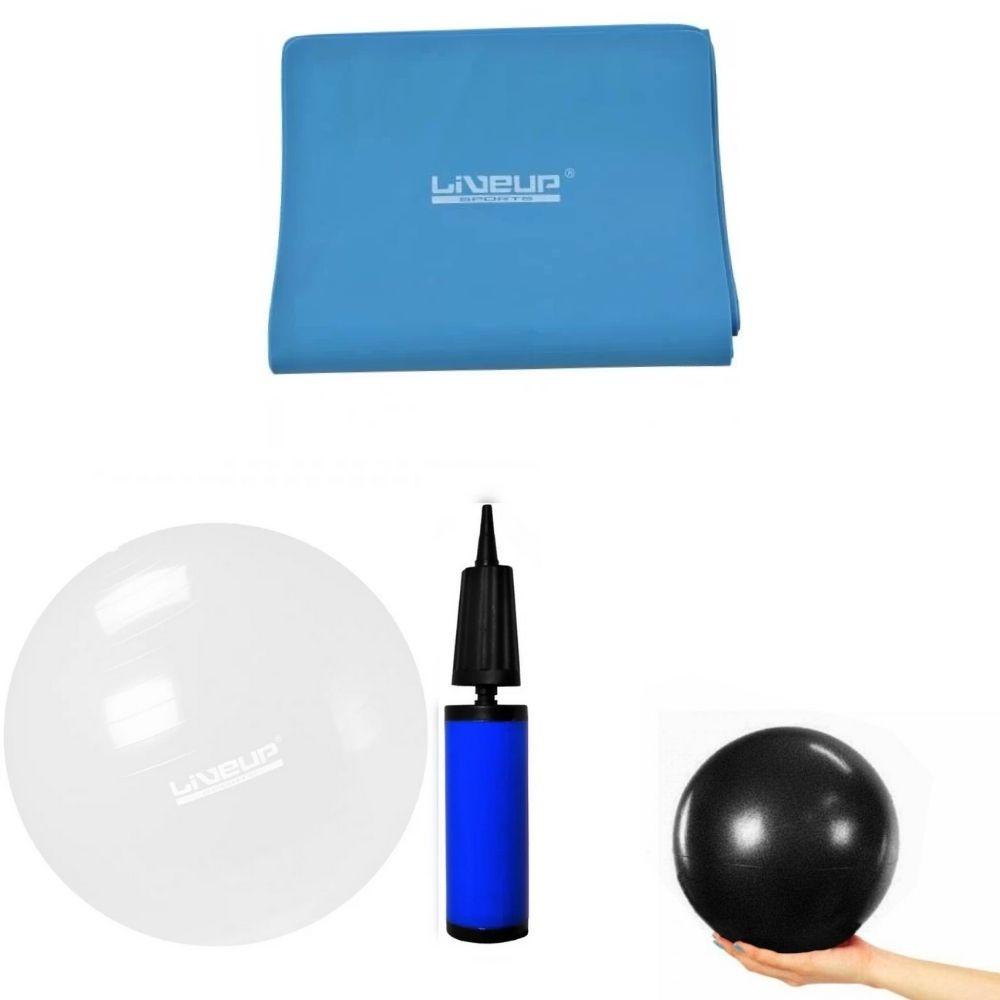 Bola 65cm Transparente+overball 25 Cm+faixa Elástica Forte