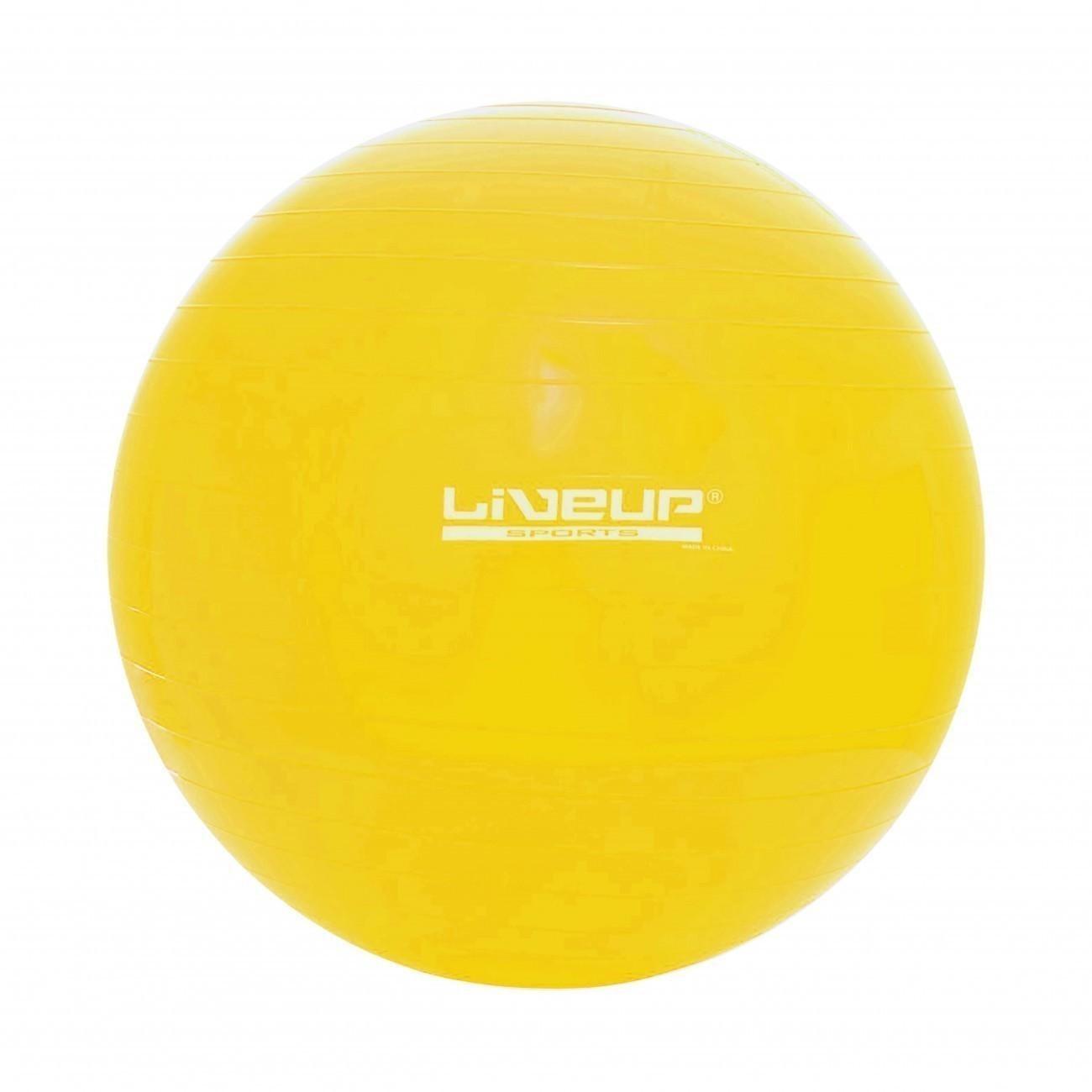 Bola Suiça S, 75 cm, Amarela, LiveUp Sports