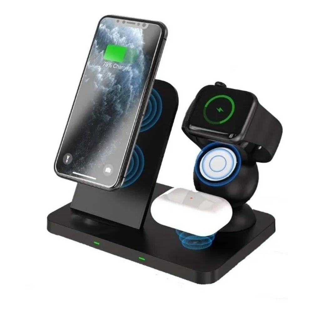 Carregador 3X1 Sem Fio POR Indução iPhone AirPods Applewatch