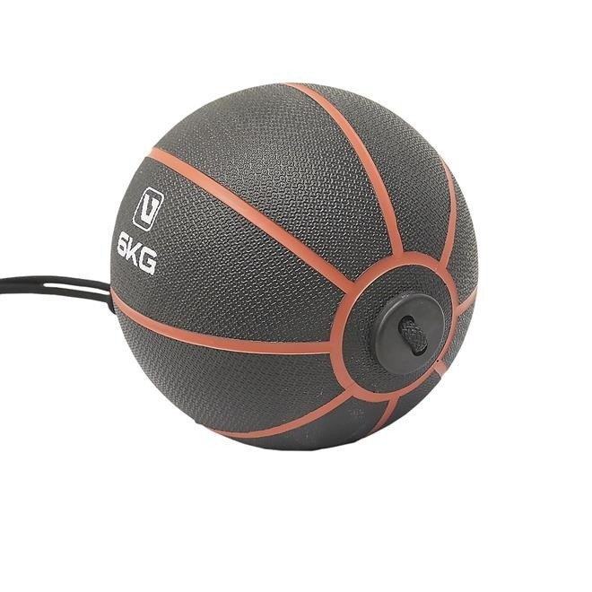 MEDICINE BALL C/ CORDA 6KG - LIVEUP SPORTS