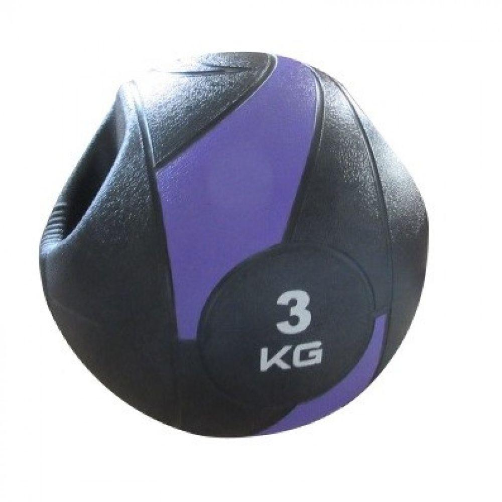 MEDICINE BALL C/ PEGADA - 3KG/230MM - LIVEUP SPORTS