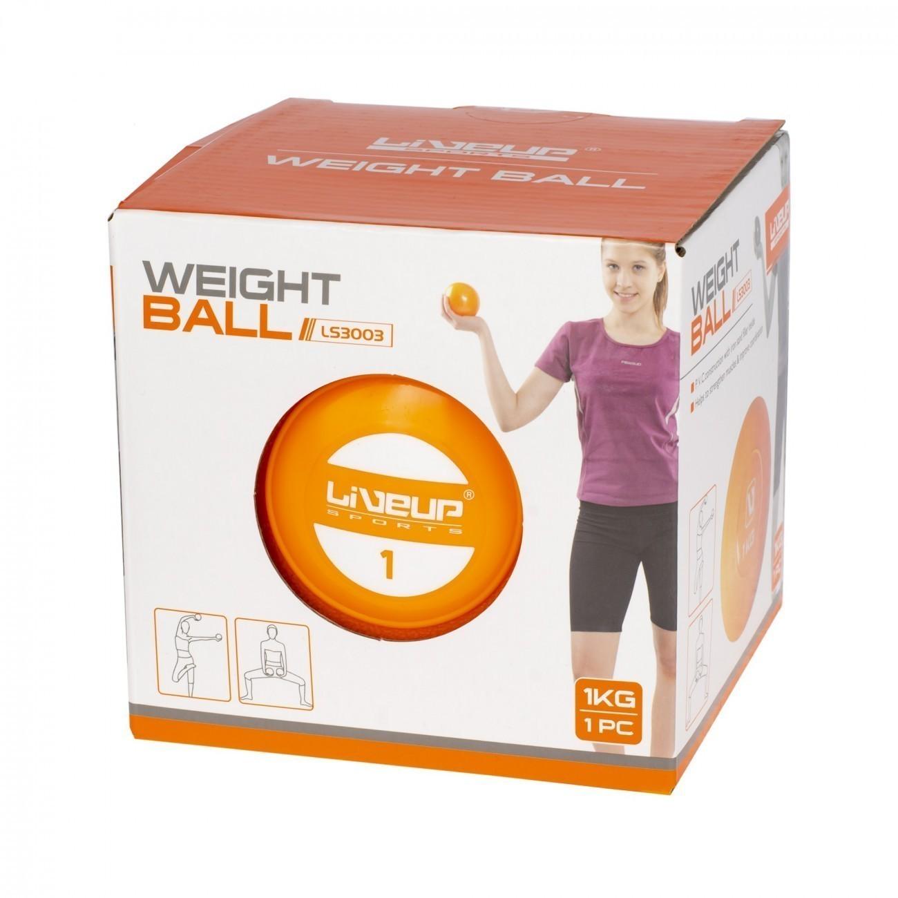 SOFT BALL - MINI BOLA DE EXERCÍCIO - 1KG LIVEUP