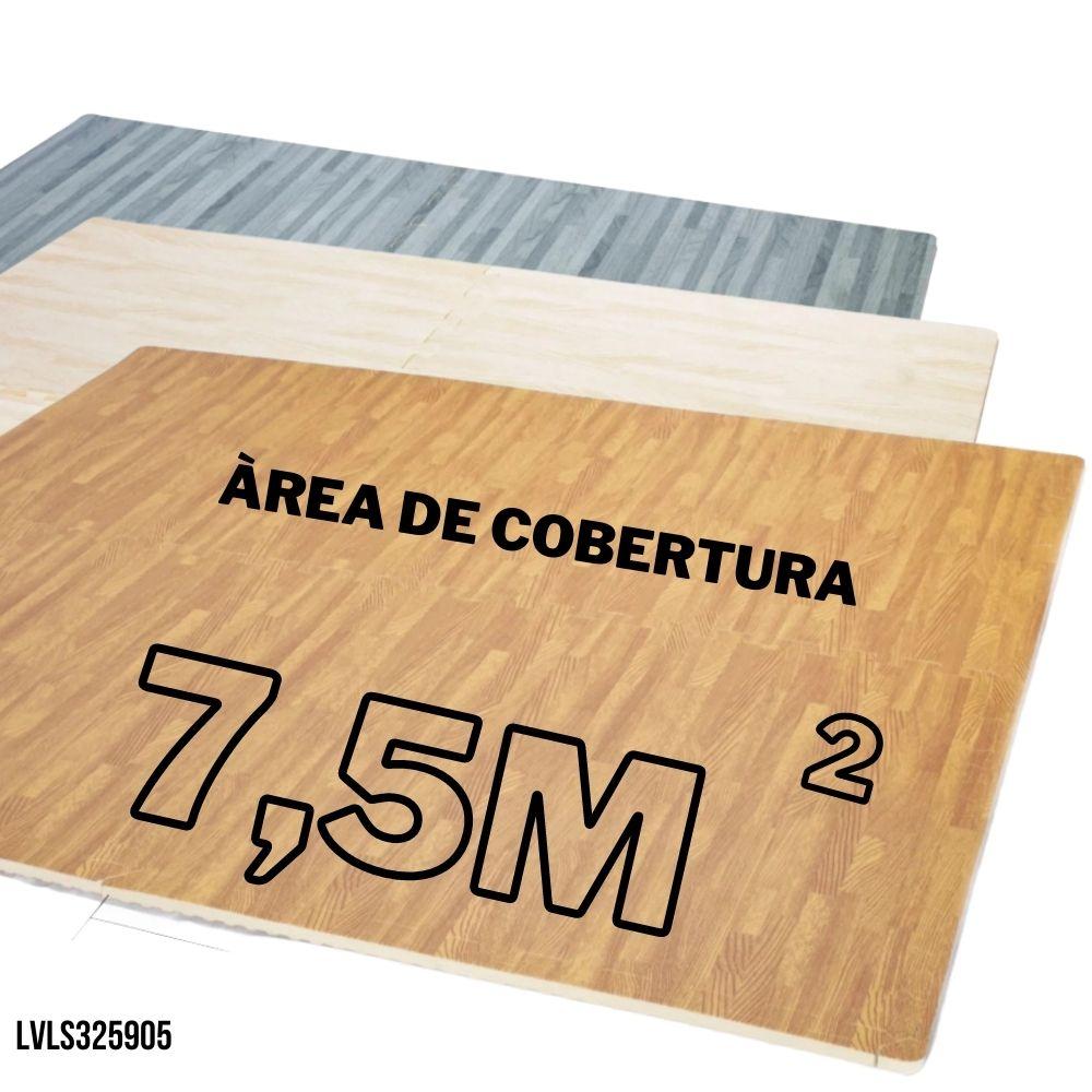 TATAME EVA EFEITO PISO MADEIRA 20 PLACAS 62X62 12MM - COBRE AREA 7,5M2