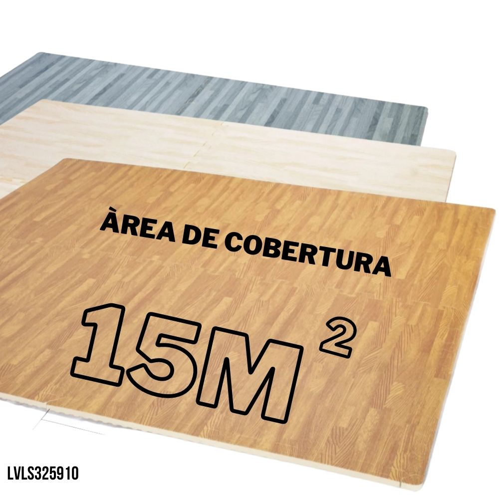 TATAME EVA EFEITO PISO MADEIRA 40 PLACAS 62X62 12MM - COBRE AREA 15M2