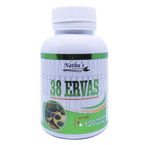 38 ERVAS 500MG 120 CÁPSULAS - NATHU'S