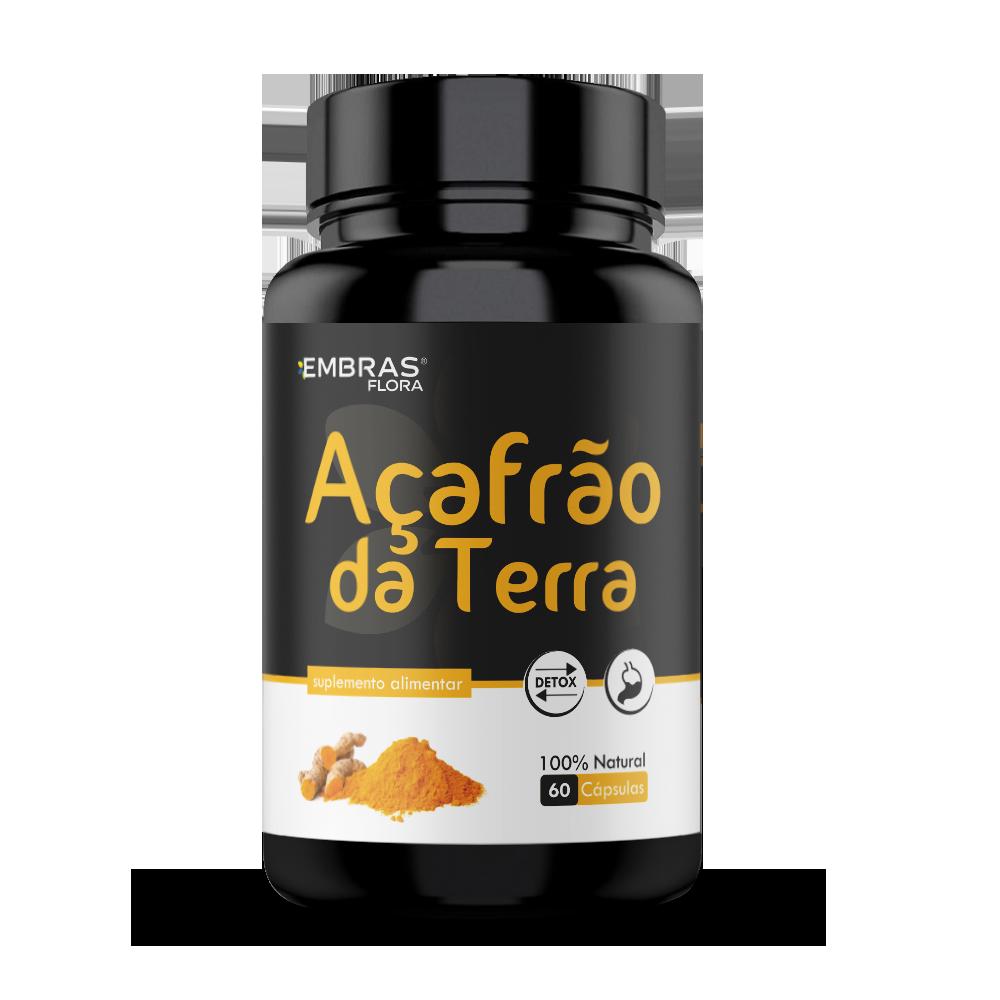 AÇAFRÃO DA TERRA 60 CÁPSULAS - EMBRASFLORA