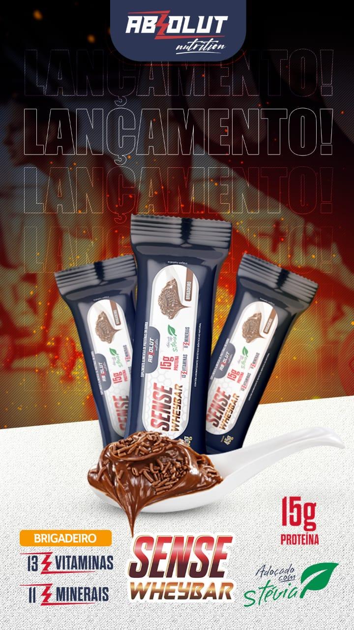 BARRA DE PROTEÍNA Sense Wheybar BRIGADEIRO 45G - ABS NUTRITION