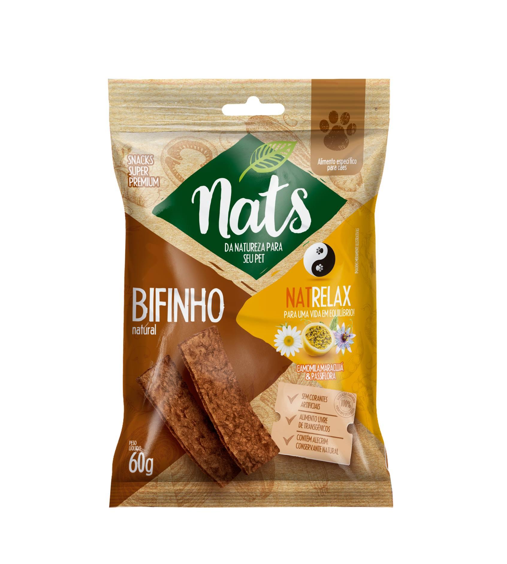 BIFINHO NATURAL PARA CÃES NATRELAX 60G - NATS