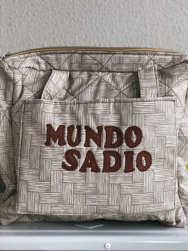 BOLSA PATCHWORK CAQUI COM MARROM GRANDE - MUNDO SADIO