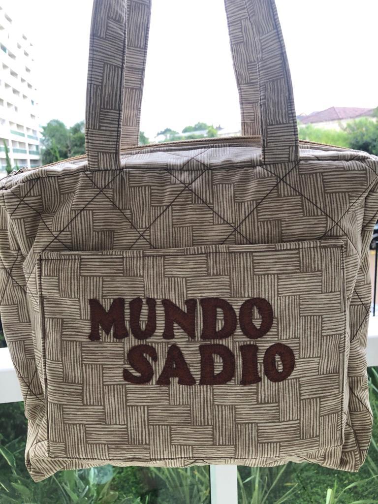 BOLSA PATCHWORK CAQUI COM MARROM MÉDIA - MUNDO SADIO