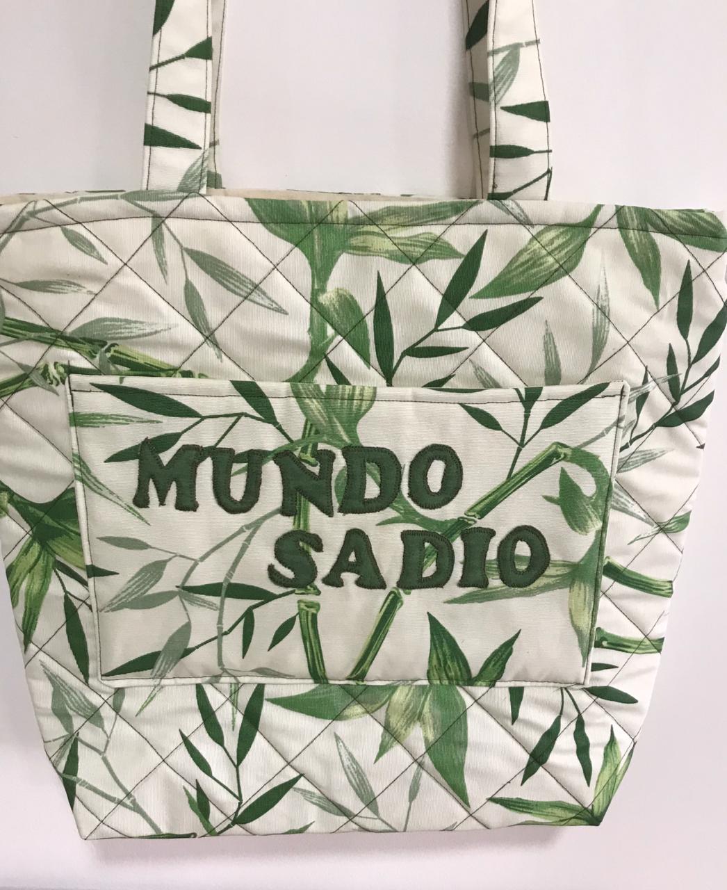 BOLSA PATCHWORK MUNDO SADIO BOTÃO