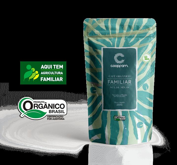 CAFÉ FAMILIAR ORGÂNICO TORRADO E MOÍDO 250 g