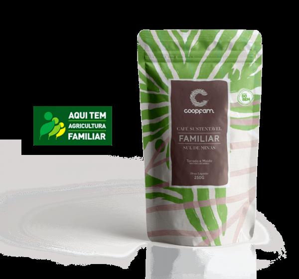 CAFÉ FAMILIAR SUSTENTÁVEL TORRADO E MOÍDO 250 g