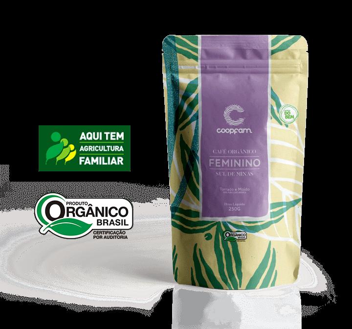 CAFÉ FEMININO ORGÂNICO TORADO E MOÍDO 250G - COOPFAM