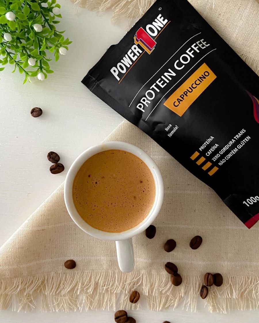 PROTEIN COFFEE SABOR CAPPUCCINO 100G - POWER1ONE