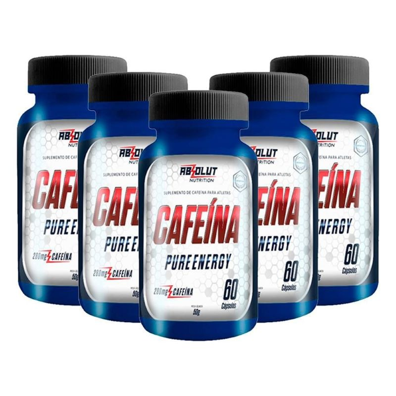 CAFEÍNA PURE ENERGY 280MG 60 CÁPSULAS - ABS NUTRITION