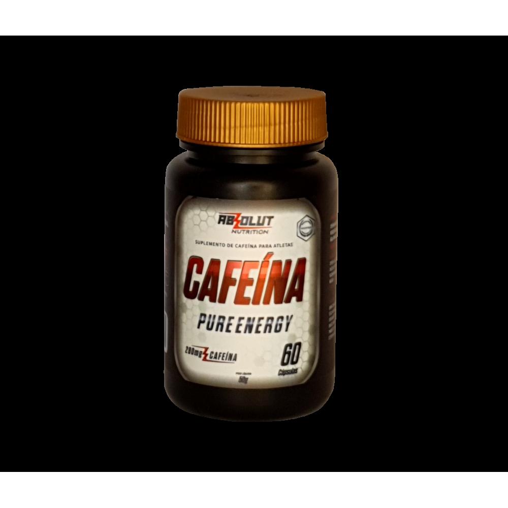 CAFEÍNA PURE ENERGY 280MG 60 CÁPSULAS - ABS NUTRITION