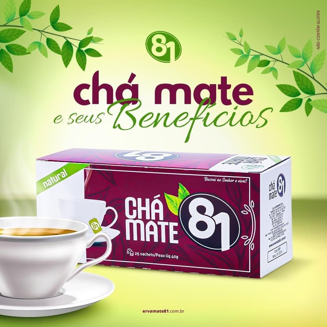CHÁ MATE TOSTADO CANELA 25 SACHÊS - MATE 81