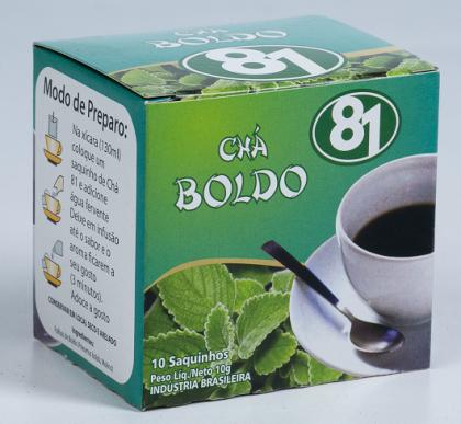 CHÁ NATURAL DE BOLDO 10 SACHÊS - MATE 81