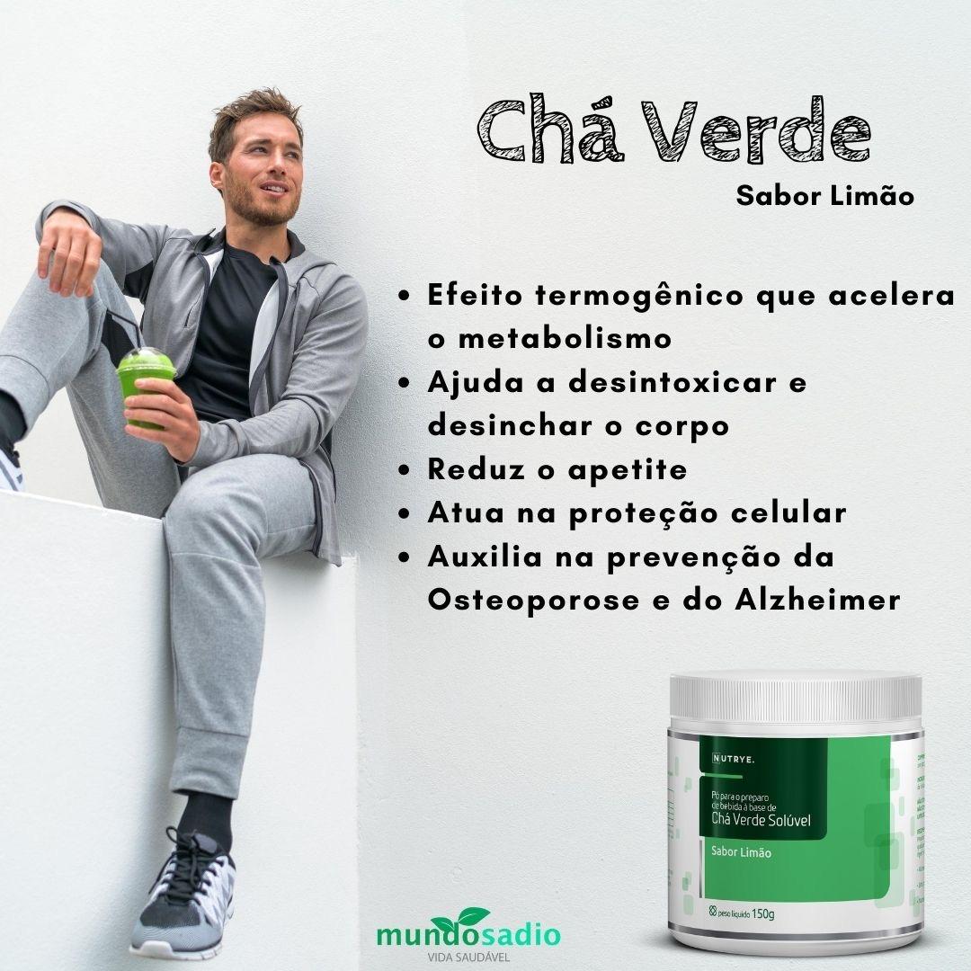 CHÁ VERDE EM PÓ 150G SABOR DE LIMÃO - NUTRYE