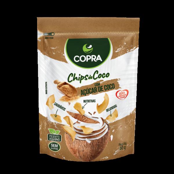 CHIPS DE COCO COPRA -  AÇÚCAR DE COCO