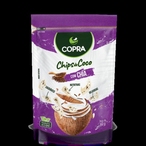CHIPS DE COCO COPRA -  CHIA