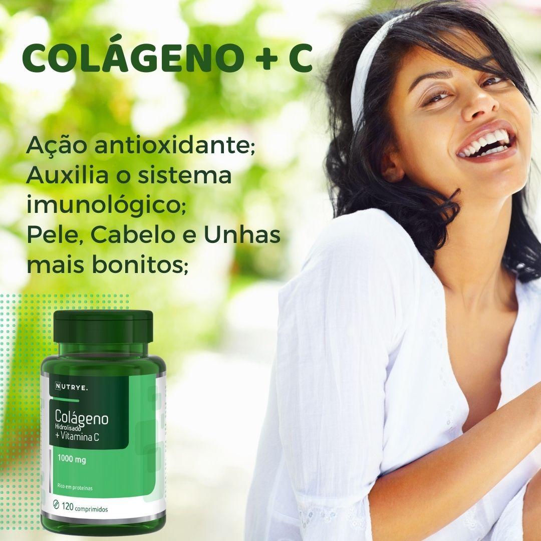 COLÁGENO HIDROLISADO + VITAMINA C 120 COMPRIMIDOS - NUTRYE