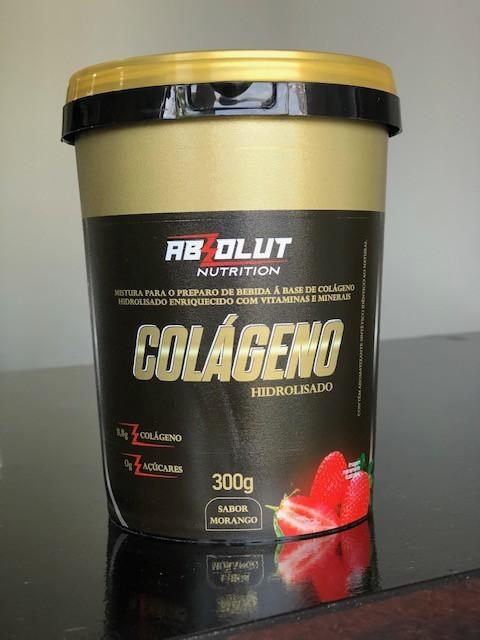 COLÁGENO HIDROLISADO EM PÓ SABOR MORANGO 300G - ABS NUTRITION