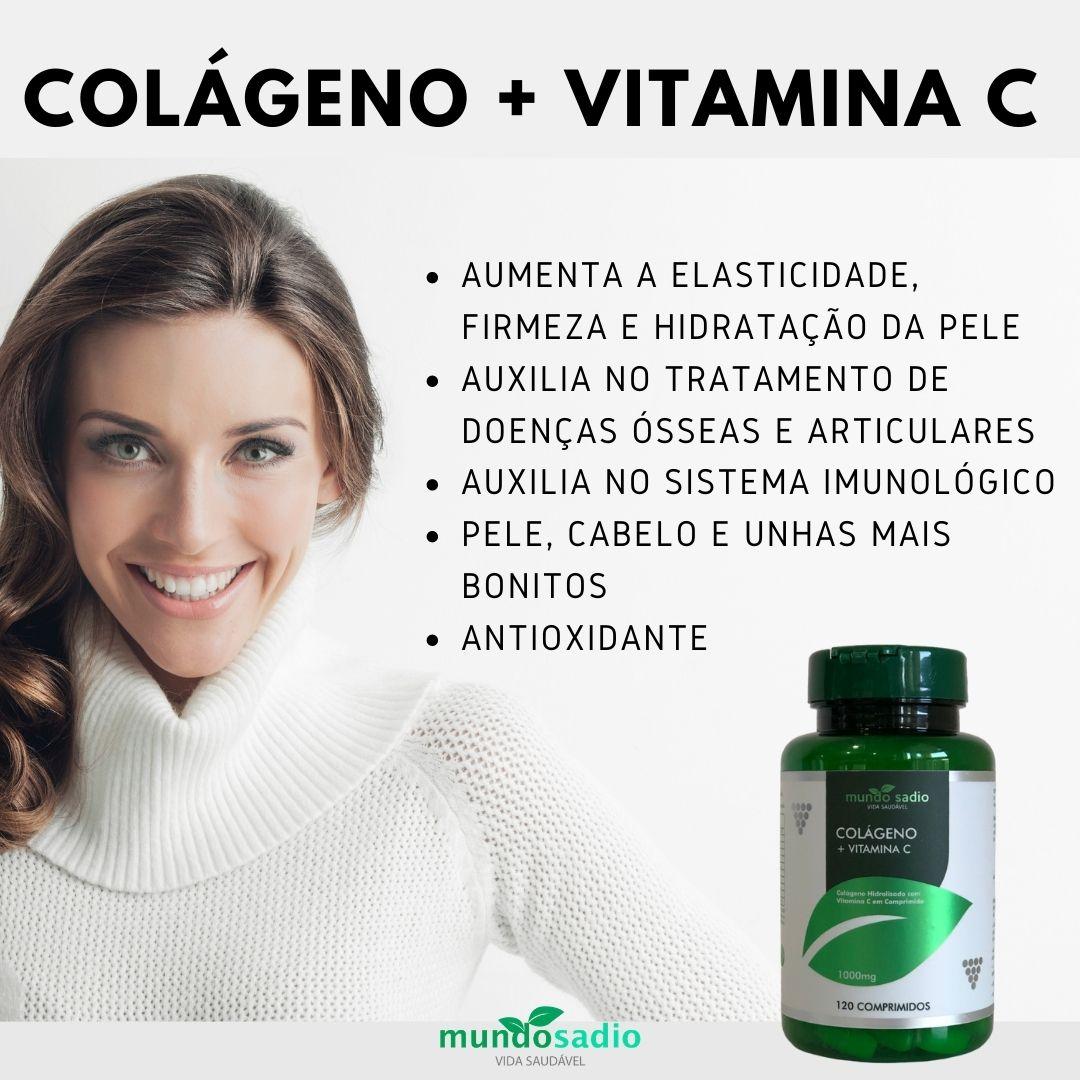COLÁGENO + VITAMINA C 120 COMPRIMIDOS - MUNDO SADIO