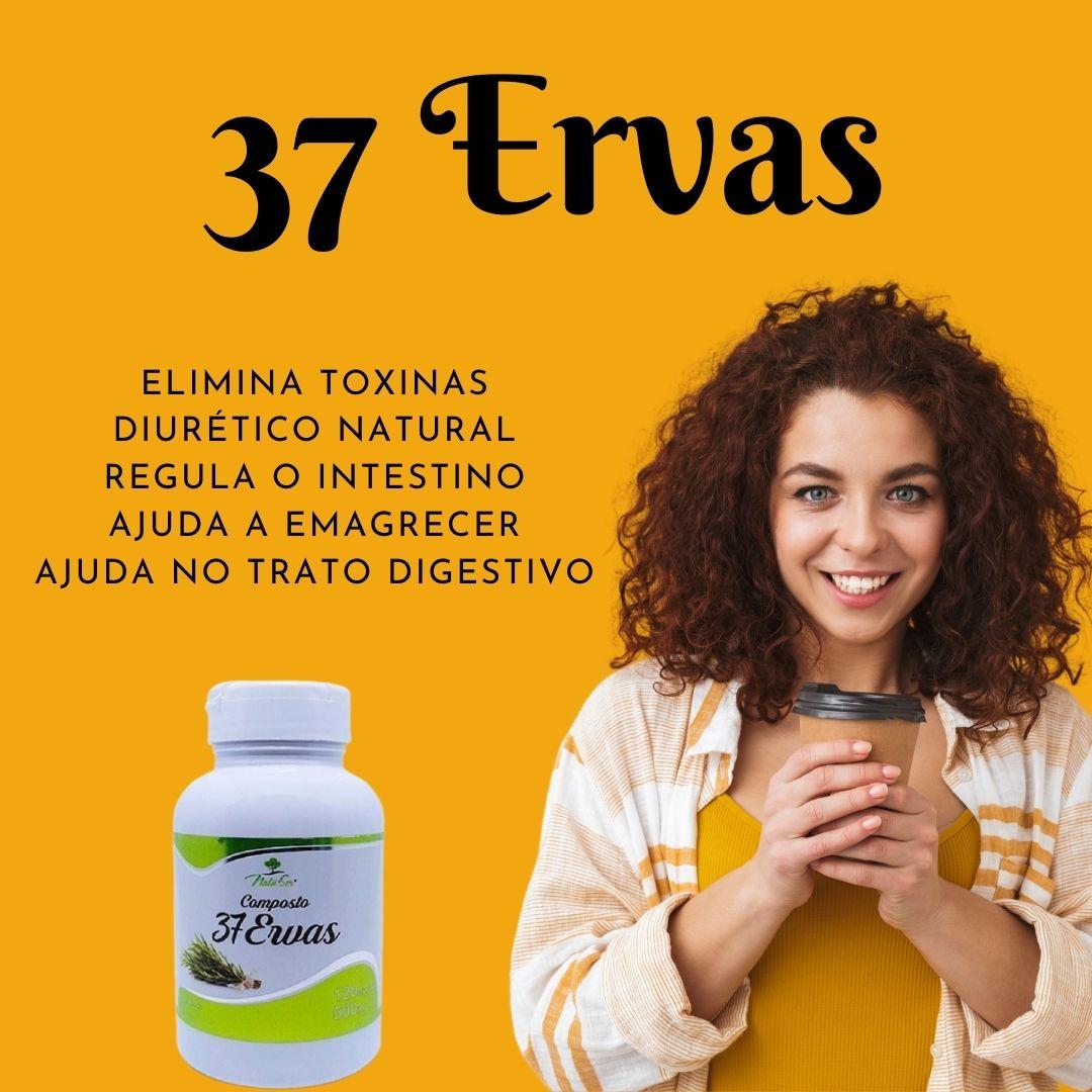 COMPOSTO 37 ERVAS 500MG 120 CÁPSULAS - NATUSER