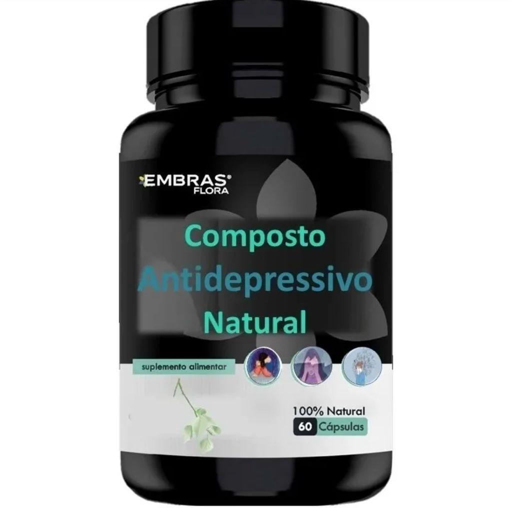 COMPOSTO ANTIDEPRESSIVO NATURAL 60 CÁPSULAS - EMBRASFLORA