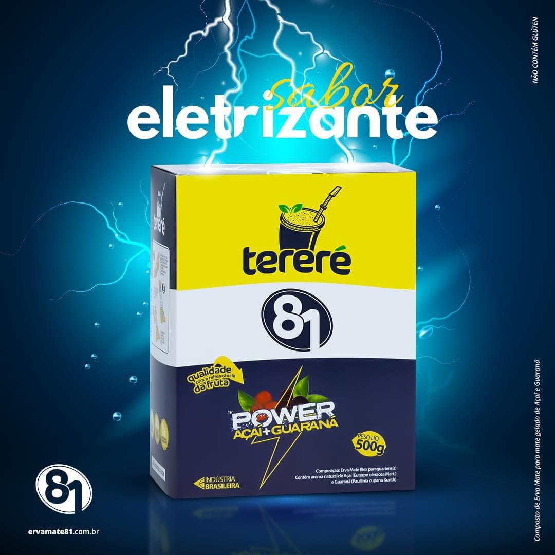 ERVA PARA TERERÉ POWER AÇAÍ + GURANÁ (ENERGÉTICO) 500G - MATE 81