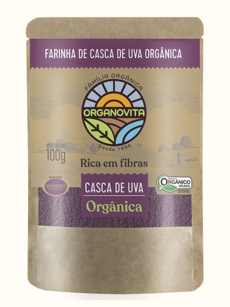 FARINHA DE CASCA DE UVA ORGÂNICA 100G - ORGANOVITA