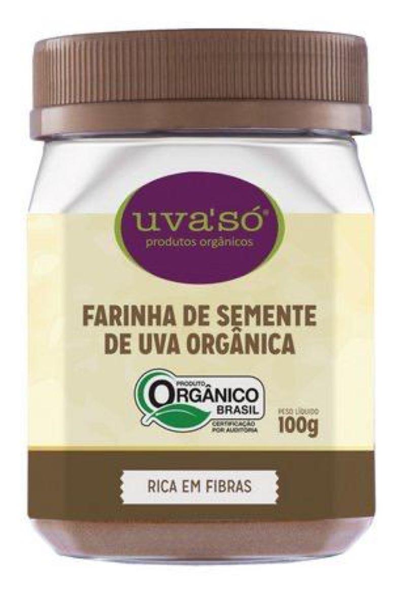 FARINHA DE SEMENTE DE UVA ORGÂNICA 100G - UVA'SÓ
