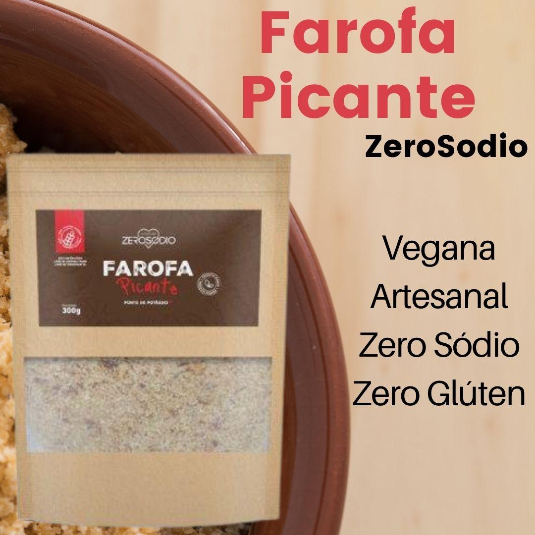 FAROFA VEGANA PICANTE 300G - ZERO SÓDIO